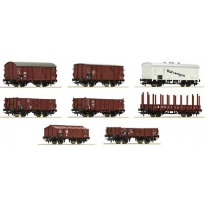 SET 8 VAGONES MERCANCIAS DRG - ROCO 44003 - ESCALA H0