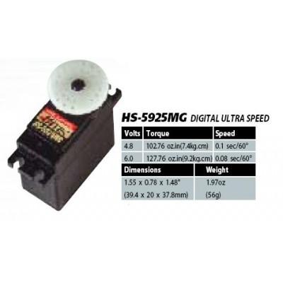 SERVO DIGITAL 5925MG 9,2K/0.09 PIÑONERIA