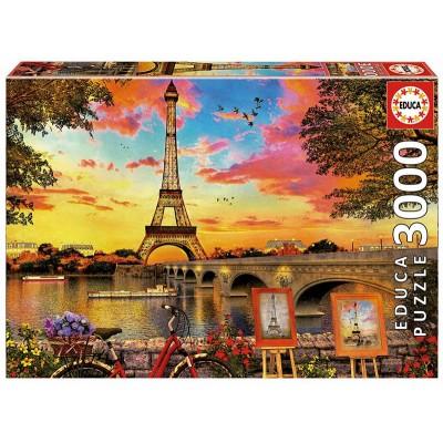 PUZZLE 3000 PZS PUESTA DE SOL EN PARIS - EDUCA 17675