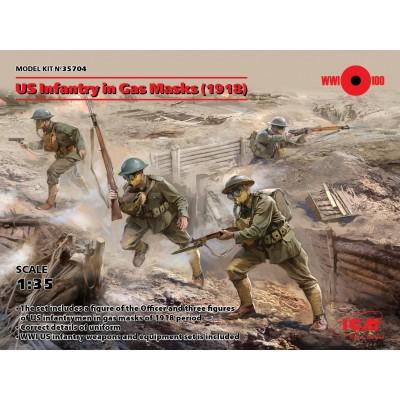 INFANTERIA USA 1918 & MASCARA DE GAS 1/35 - ICM 35704