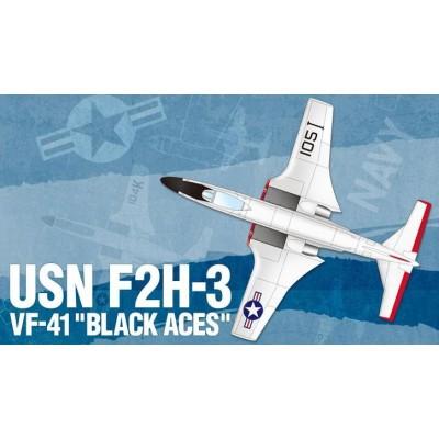 MCDONELL F2H-3 BANSHEE VF-41 BLACK ACES - ESCALA 1/72 - ACADEMY 12548