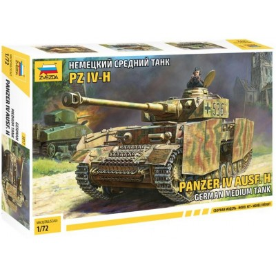 CARRO DE COMBATE Sd.Kfz. 161/2 PANZER IV Ausf. H 1/72 - Zvezda 5017