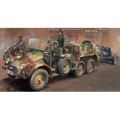 CAMION KRUPP PROTZE L2 H143 Sd.Kfz. 69 & CAÑON ANTICARRO PAK-36 (37 mm) - Bronco Models CB35133
