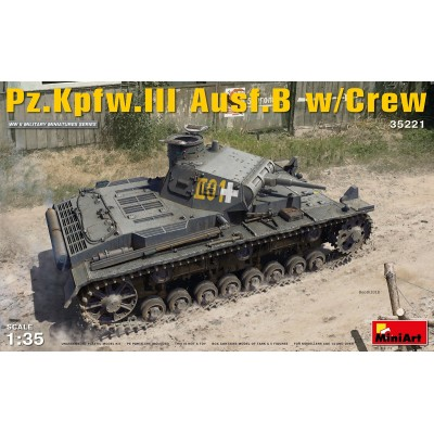 CARRO DE COMBATE Sd.Kfz. 141 PANZER III Ausf. B & Tripulantes 1/35 MiniArt Model 35221