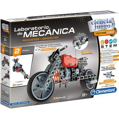 LABORATORIO MECANICA - ROADSTER + DRAGSTER - CLEMENTONI 55157