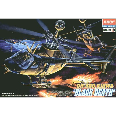 "BELL OH-58D KIOWA ""BLACK DEATH"" -Escala 1/35"" - Academy 12131"