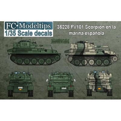 SET CALCAS CARROS FV.101 SCORPION -Infanteria de Marina Española- FC Modeltips 35228