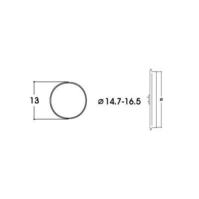 AROS DE ADHERENCIA 14,7 - 16,5 mm (10 unidades)