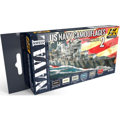 Set Colores: CAMUFLAJE BARCOS U.S. NAVY nº2 WWII - AK Interactive 5020