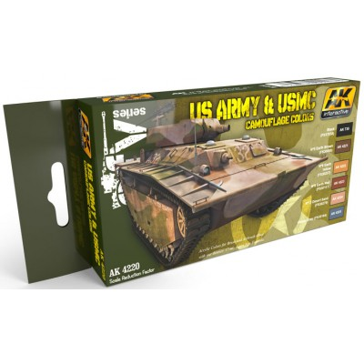 Set Colores: CAMUFLAJE U.S. ARMY & U.S.M.C. - AK Interactive 4220