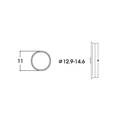 AROS DE ADHERENCIA 12,9 - 14,3 mm (10 unidades)