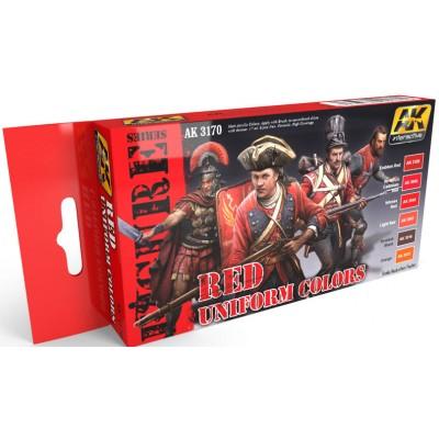 FIGURE series: RED UNIFORM COLORS - AK 3170