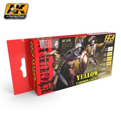 FIGURE series: YELLOW UNIFORM COLORS - AK 3190
