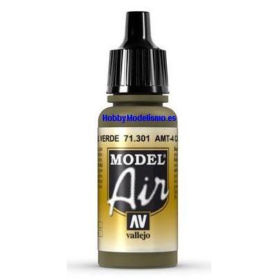 PINTURA ACRILICA VERDE CAMUFLAJE AMT-4 (17 ml)
