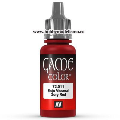 PINTURA ACRILICA ROJO VISCERAL (17 ml)