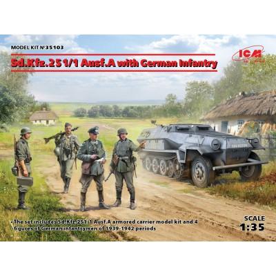 SEMIORUGA Sd.Kfz.251/1 Ausf.A & INFANTERIA ALEMANA 1/35 - ICM 35103