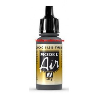 PINTURA ACRILICA NEGRO CAUCHO (17 ml)
