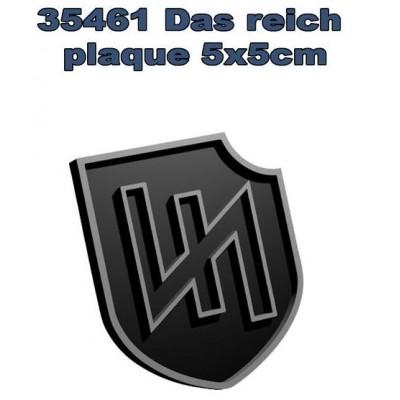 PLACA DIVISION DAS REICH ( 5x5 CMS) SIN PINTAR