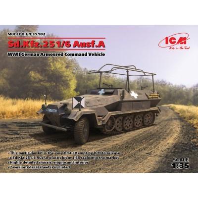 SEMIORUGA SD.KFZ. 251/6 Ausf. A -Mando- 1/35 - ICM 35102