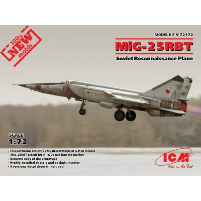 MIKOYAN GUREVICH MIG-25 RBT FOXBAT 1/72 - ICM 72172