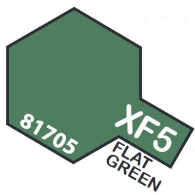 PINTURA ACRILICA VERDE MATE XF-5 (10 ml)