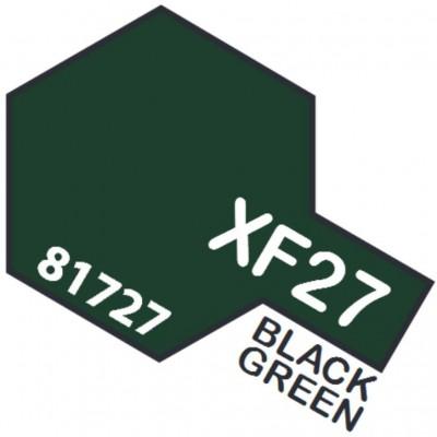 PINTURA ACRILICA VERDE NEGRO MATE XF-27 (10 ml)