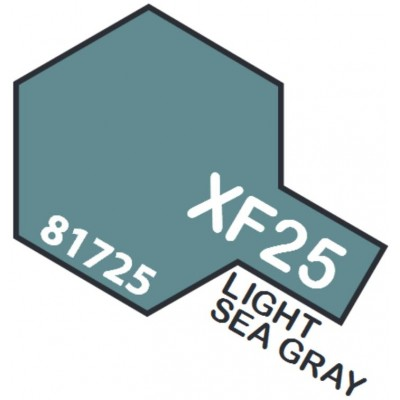 PINTURA ACRILICA GRIS MARINO CLARO MATE XF-25 (10 ml)