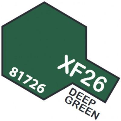 PINTURA ACRILICA VERDE PROFUNDO MATE XF-26 (10 ml)