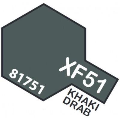PINTURA ACRILICA KHAKI DRAB MATE XF-51 (10 ml)
