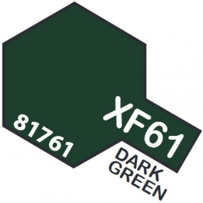 PINTURA ACRILICA VERDE OSCURO MATE XF-61 (10 ml)