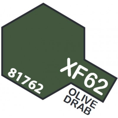 PINTURA ACRILICA VERDE OLIVA MATE XF-62 (10 ml)