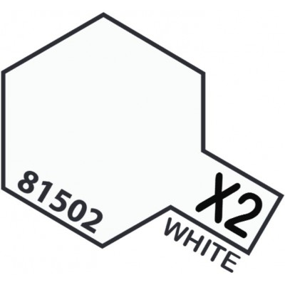 PINTURA ACRILICA BLANCO BRILLANTE X-2 (10 ml)