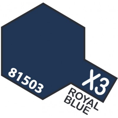 PINTURA ACRILICA AZUL REAL BRILLANTE X-3 (10 ml)