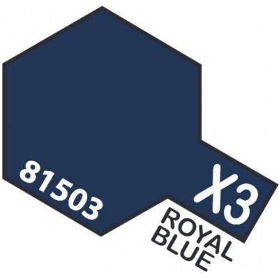 PINTURA ACRILICA AZUL REAL BRILLANTE X-3 (10 ml)