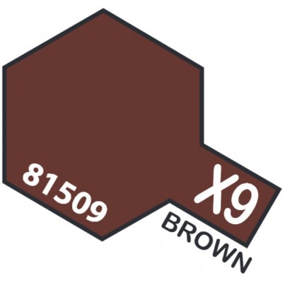 PINTURA ACRILICA MARRON BRILLANTE X-9 (10 ml)
