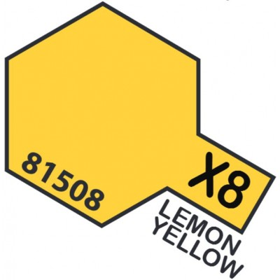 PINTURA ACRILICA AMARILLO LIMON BRILLANTE X-8 (10 ml)