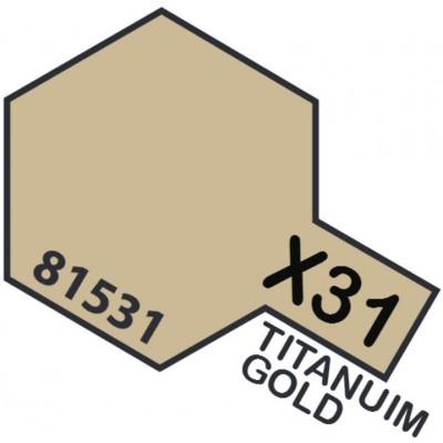 PINTURA ACRILICA ORO-TITANIO METALIZADO X-31 (10 ml)