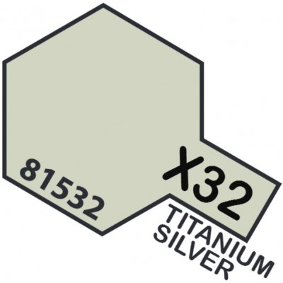 PINTURA ACRILICA PLATA-TITANIO METALIZADO X-32 (10 ml)