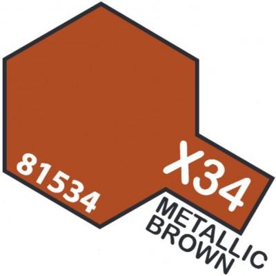 PINTURA ACRILICA MARRON METALIZADO X-34 (10 ml)