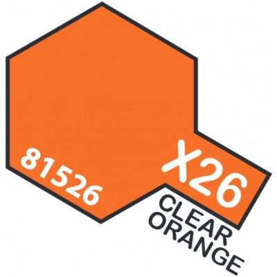 PINTURA ACRILICA NARANJA TRANSPARENTE X-26 (10 ml)