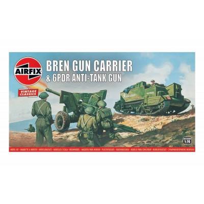 BREN CARRIER Y CAÑON 6 LIBRAS -Vintage Classics- 1/76 - Airfix A01309V