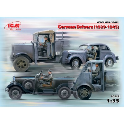 CONDUCTORES ALEMANES 1939-1945 -4 figuras- 1/35 - ICM 345642