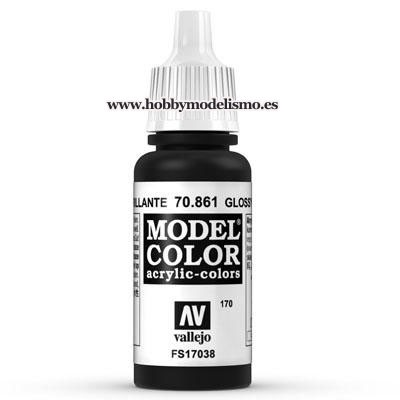 PINTURA ACRILICA NEGRO BRILLANTE (17 ml) Nº170 FS17038