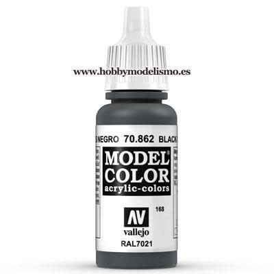 PINTURA ACRILICA GRIS NEGRO (17 ml) Nº168 RAL7021