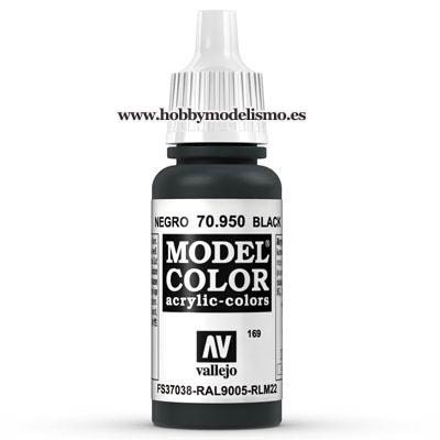 PINTURA ACRILICA NEGRO (17 ml) Nº169 FS37038 RAL9005 RLM22