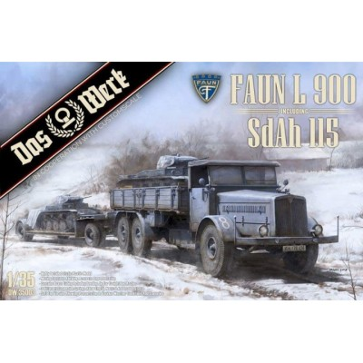CAMION FAUN L900 & TRAILER SdAh 115 1/35 - Das Werk DW35003