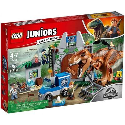 LEGO JUNIORS JURASSIC WORLD FUGA DEL TREX- LEGO 10758