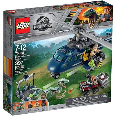 JURASSIC WORLD PERSECUCION EN HELICOPTERO - LEGO 75928