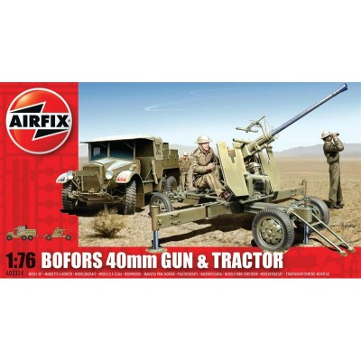 TRACTOR & CAÑON BOFORS (40 mm) -1/72- Airfix A02314
