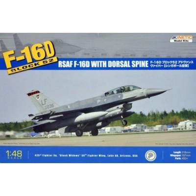 LOCKHEED MARTIN F-16 D ockheed Martin F-16 Fighting Falcon -BLOCK 52- 1/48 - Kinetic K48007